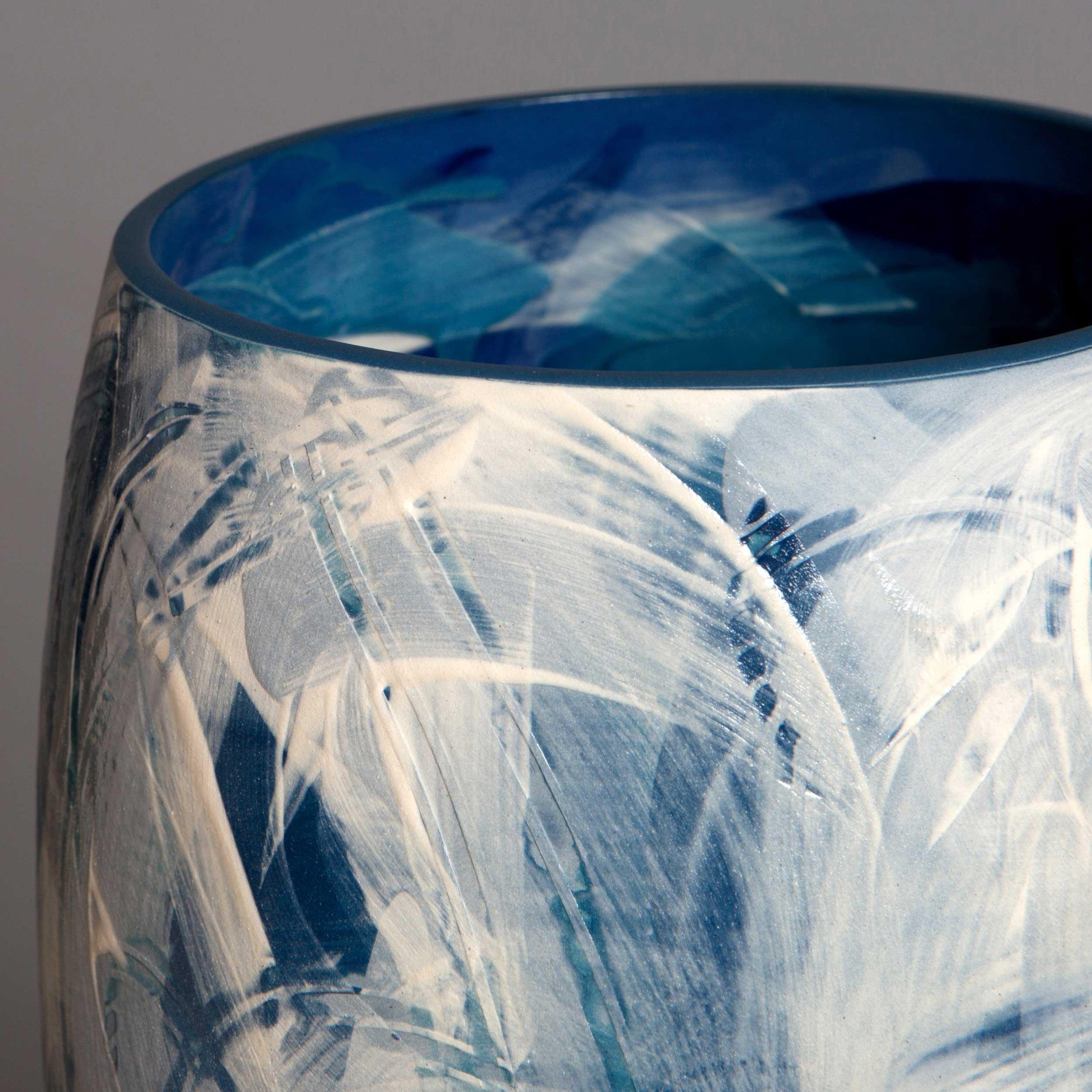 Waves Ceramic Vase by Rowena Gilbert
