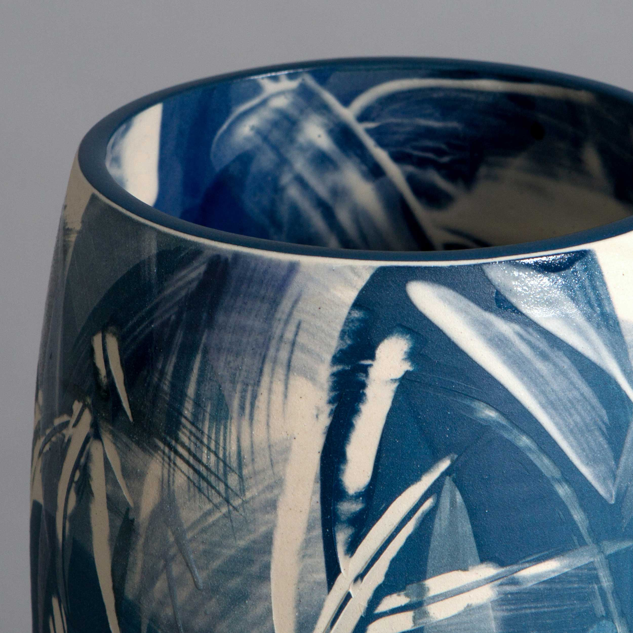 Contemporary Wave Pattern Vase