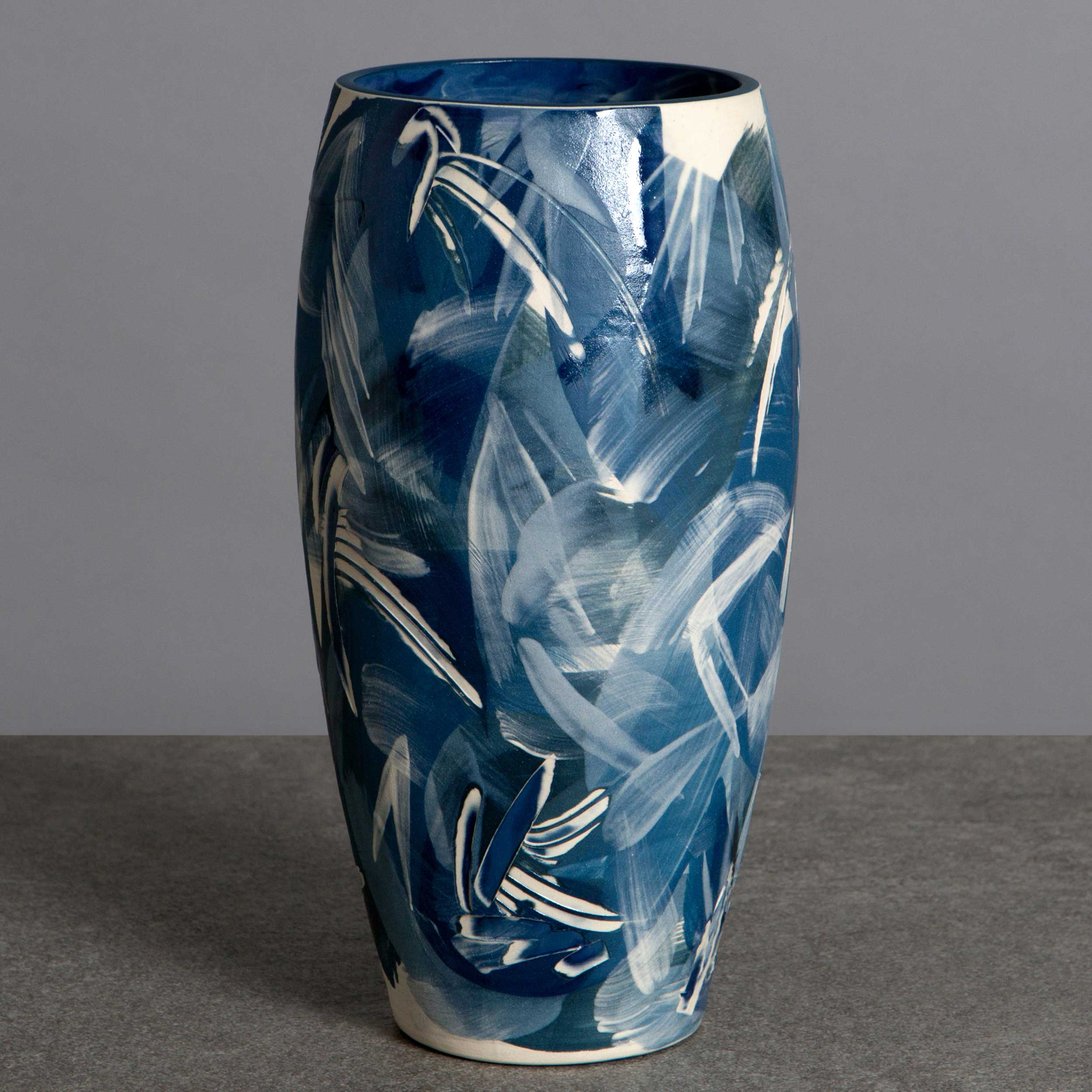 Contemporary Wave Design Vase by Rowena Gilbert