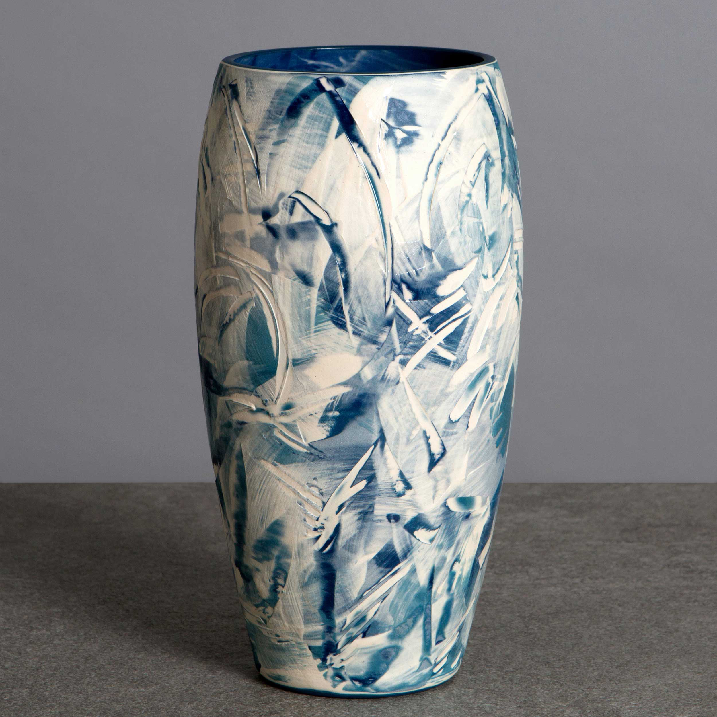 White Wave Ceramic Vase by Rowena Gilbert