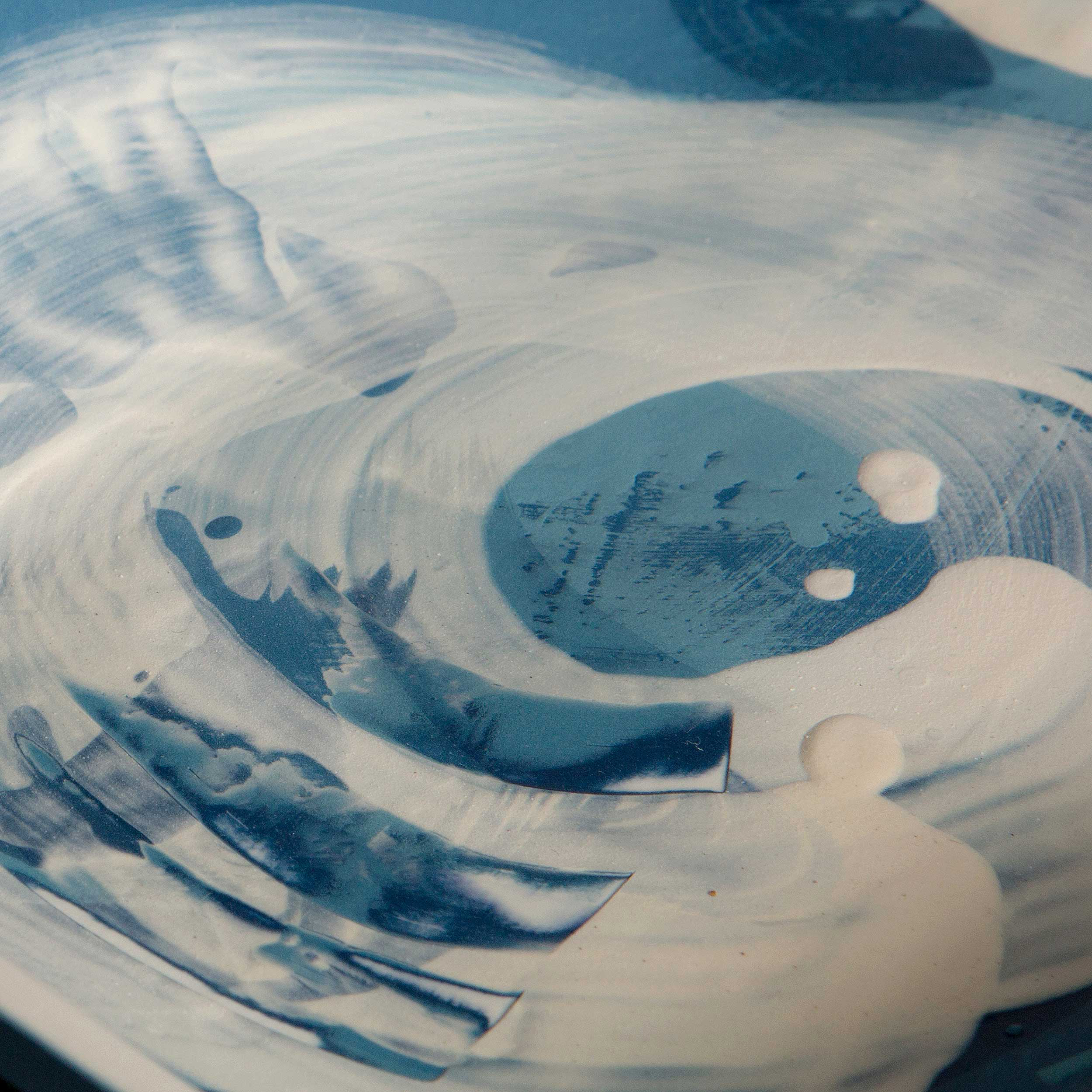 The Great Waves Ceramic Plate by Rowena Gilbert