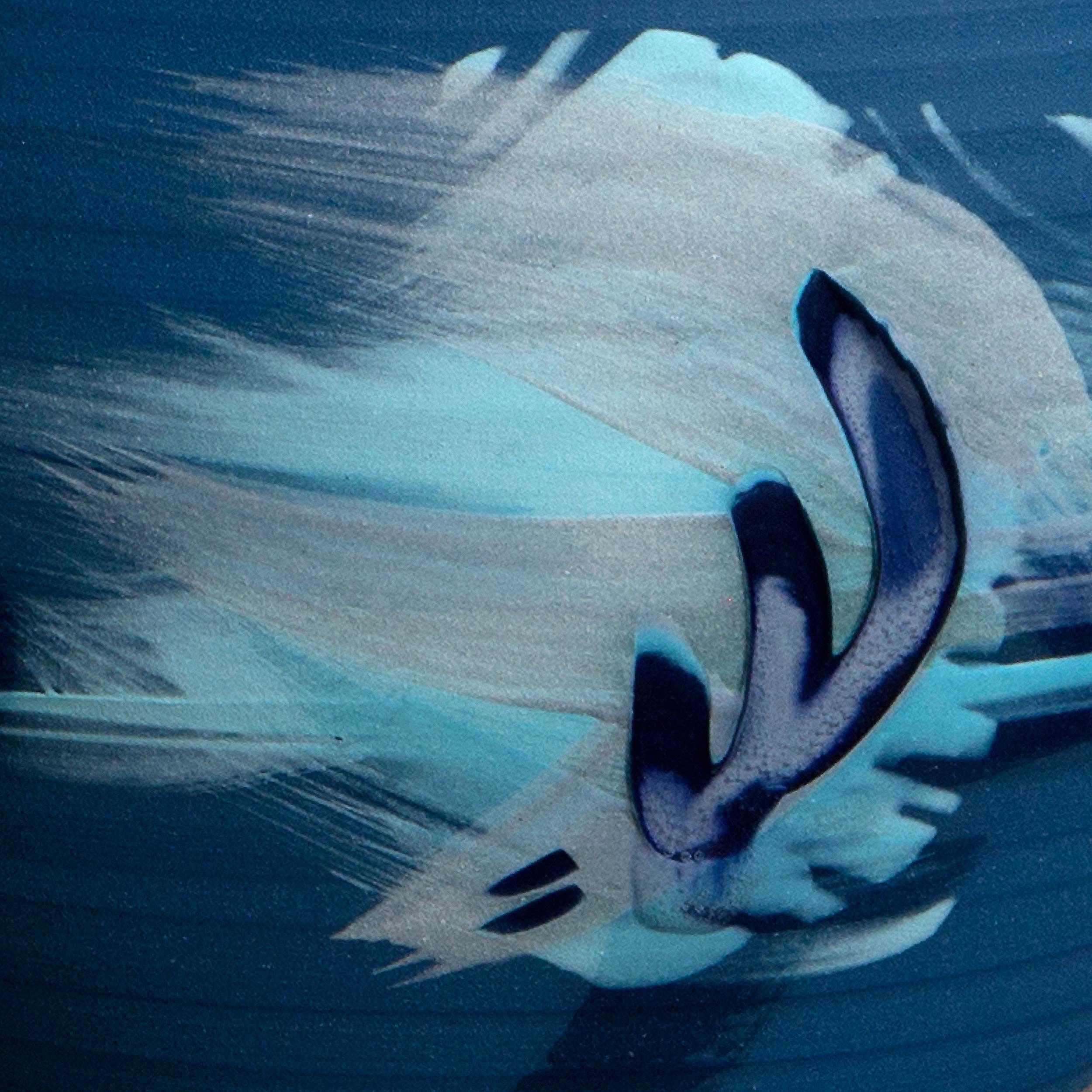 Blue Wave Splash Ceramic Pattern by Rowena Gilbert