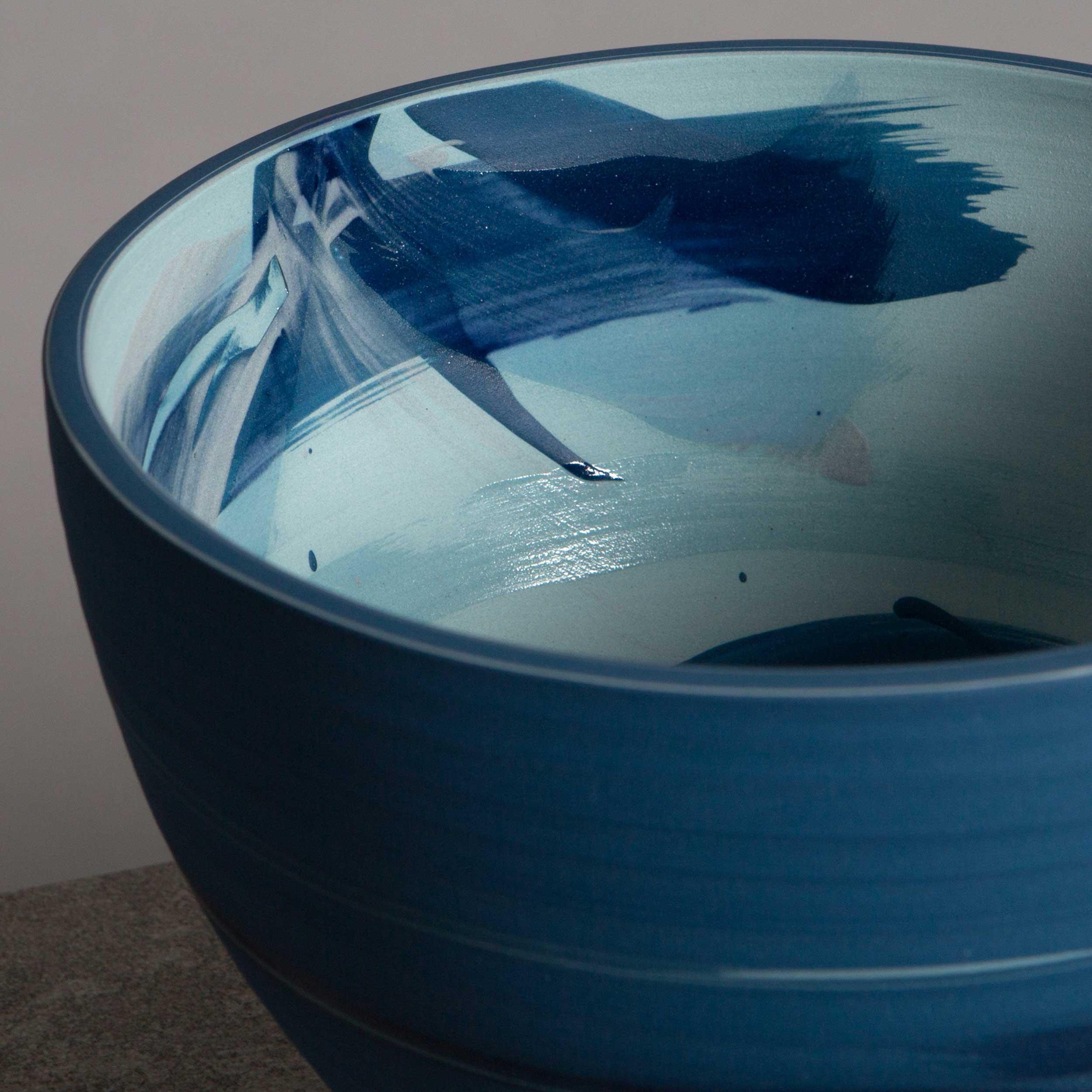 Sea Wave Ceramic Bowl  by Rowena Gilbert