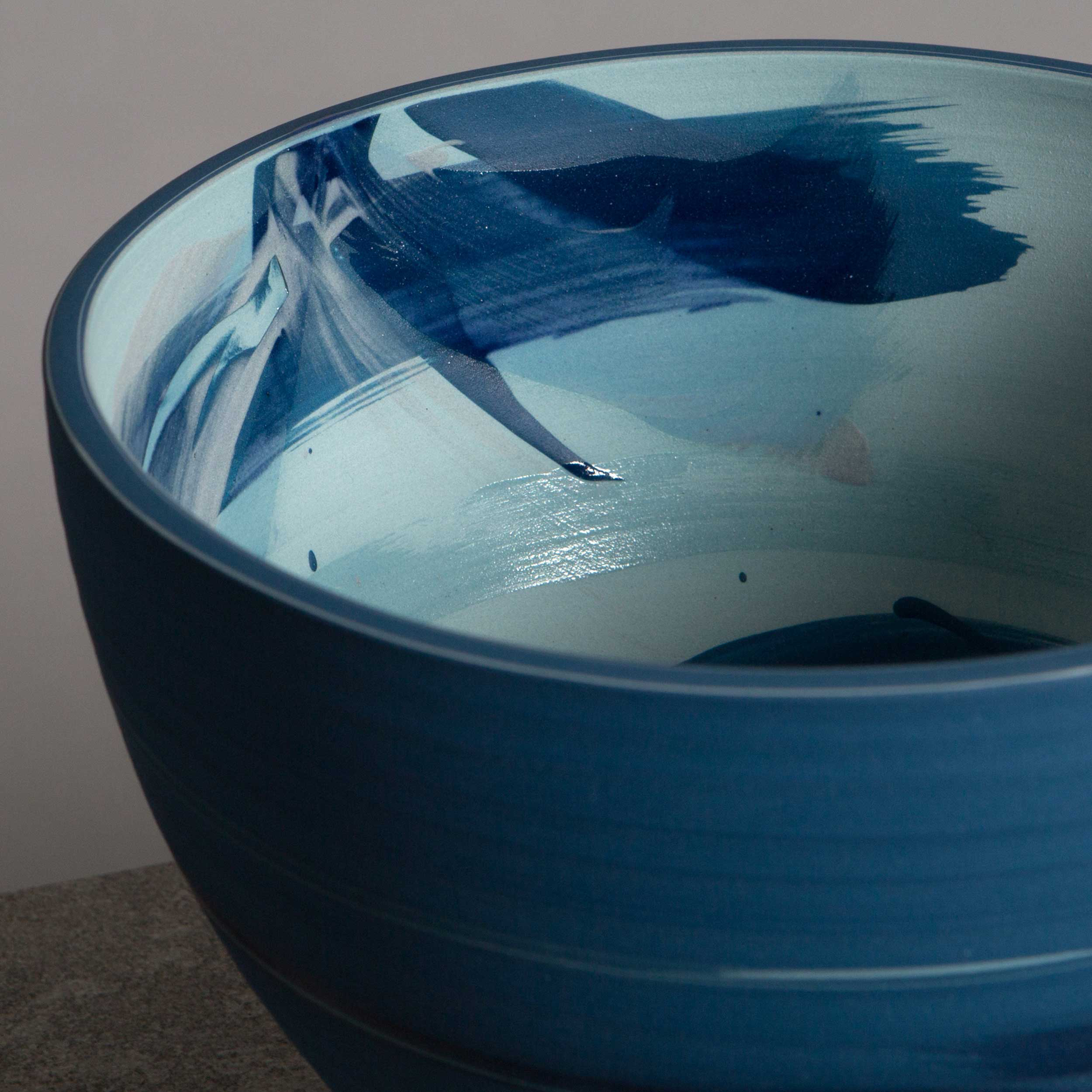 Sea Wave Ceramic Bowl  by Rowena Gilbert