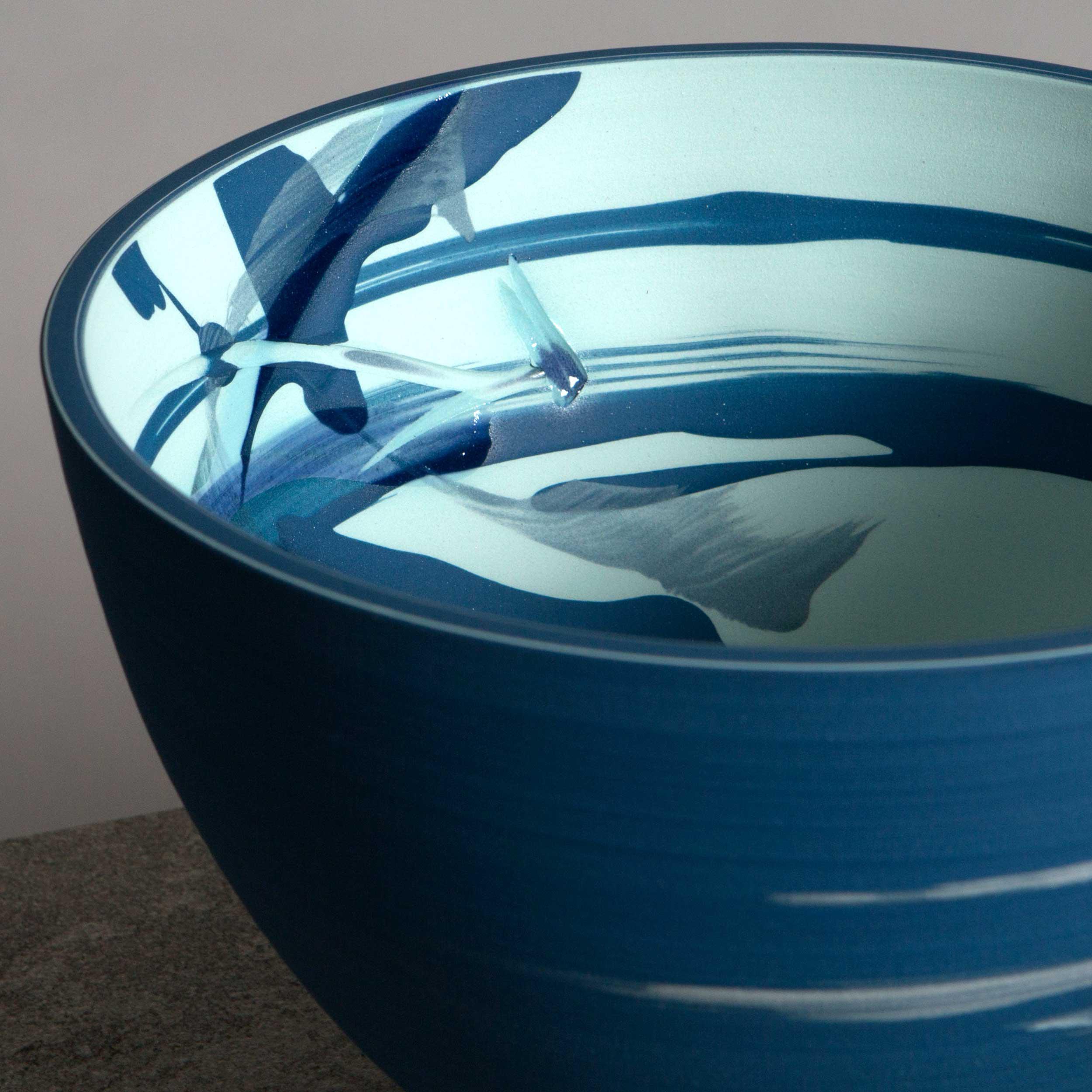 Ocean Spray Ceramic Sgraffito Expressionby Rowena Gilbert