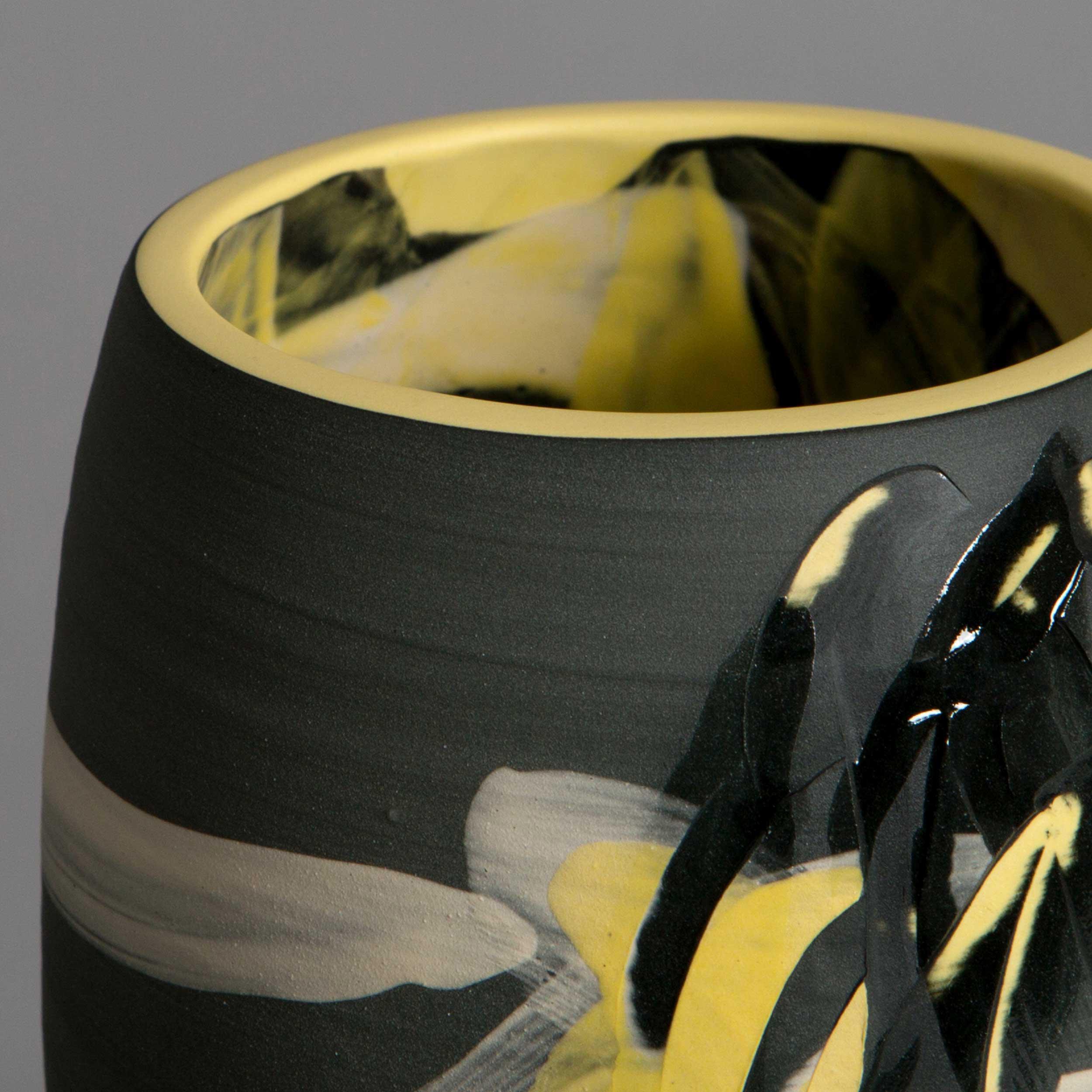 Starry Night Ceramic Vase Detail by Rowena Gilbert