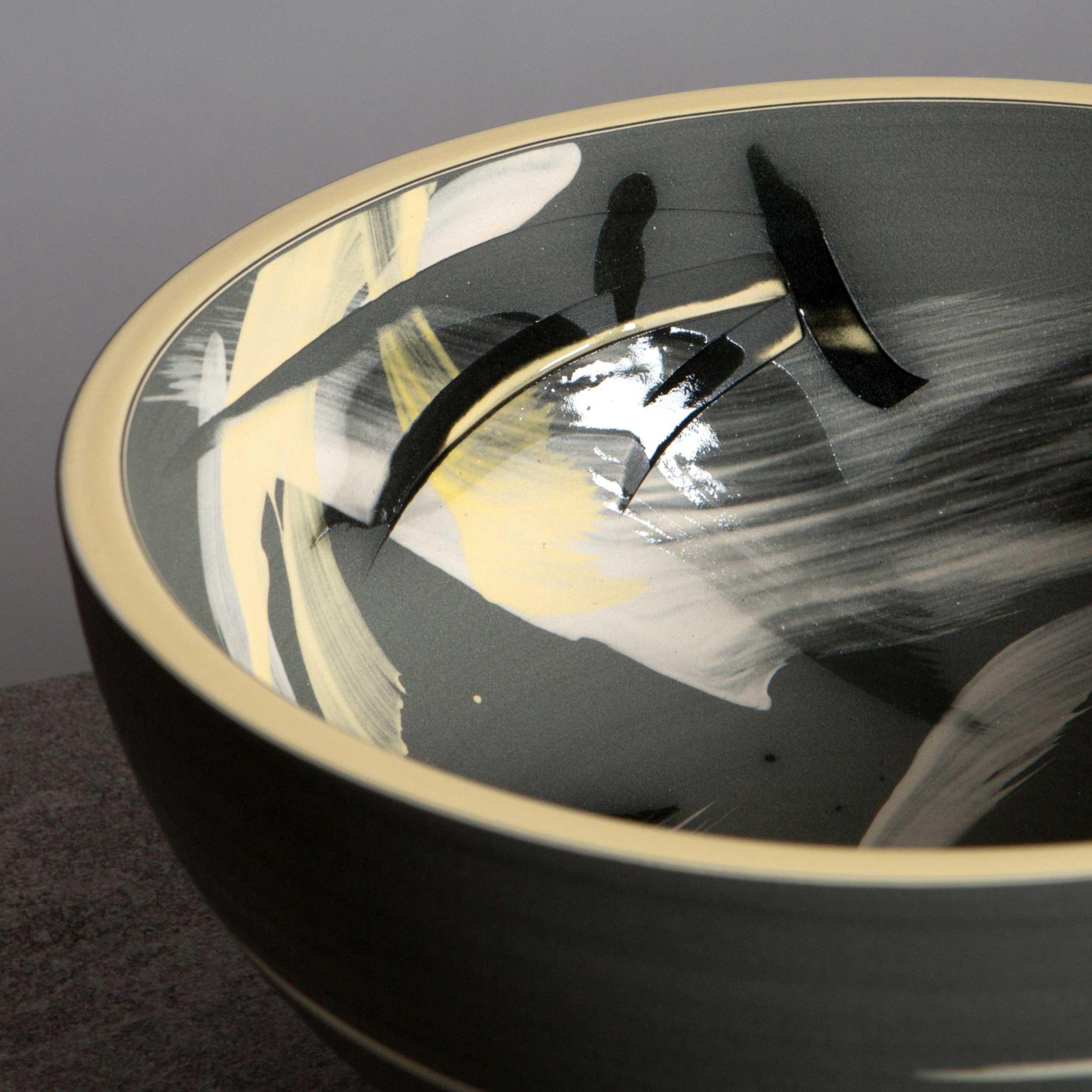 Ceramic Sgraffito Bowl Accretion of Stars by Rowena Gilbert