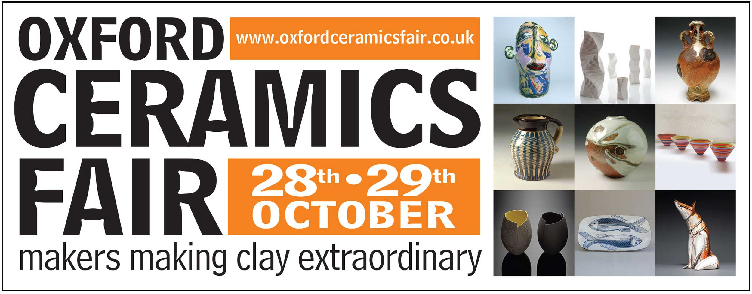 I am so chuffed to have been selected as one of six Associate Members of The Craft Potters Association (CPA) invited to exhibit along side 65 leading Potters & Ceramicists in Great Britain at their exclusive Oxford Fair this October.    www.oxfordceramicsfair.co.uk