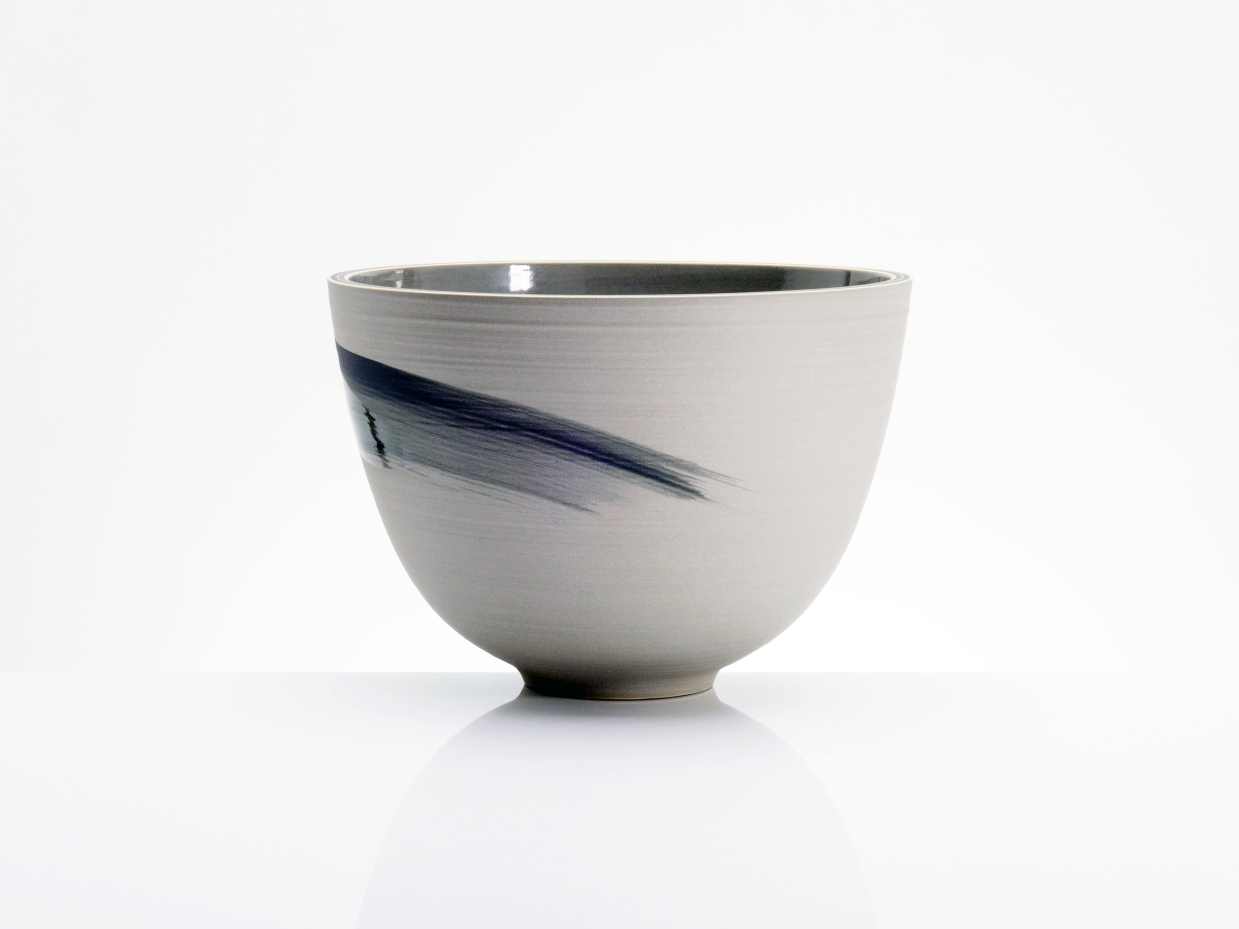 Japanese Influence Grey Bowl by Rowena Gilbert