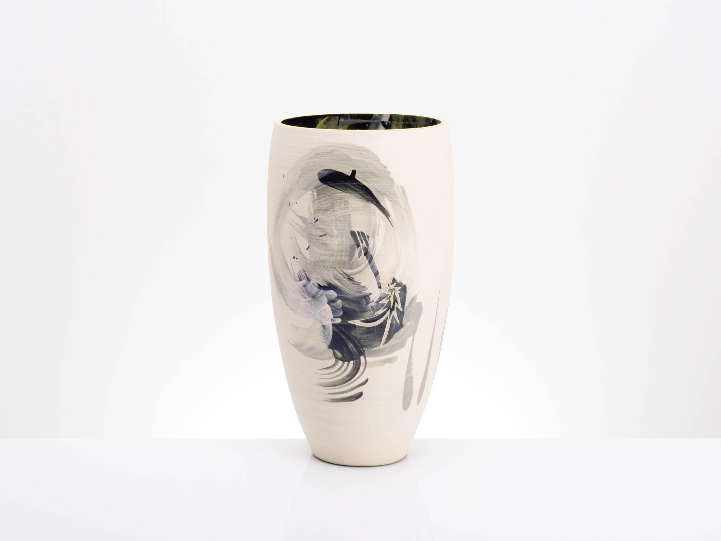 Shooting Star Large Ceramic Vase by Rowena Gilbert