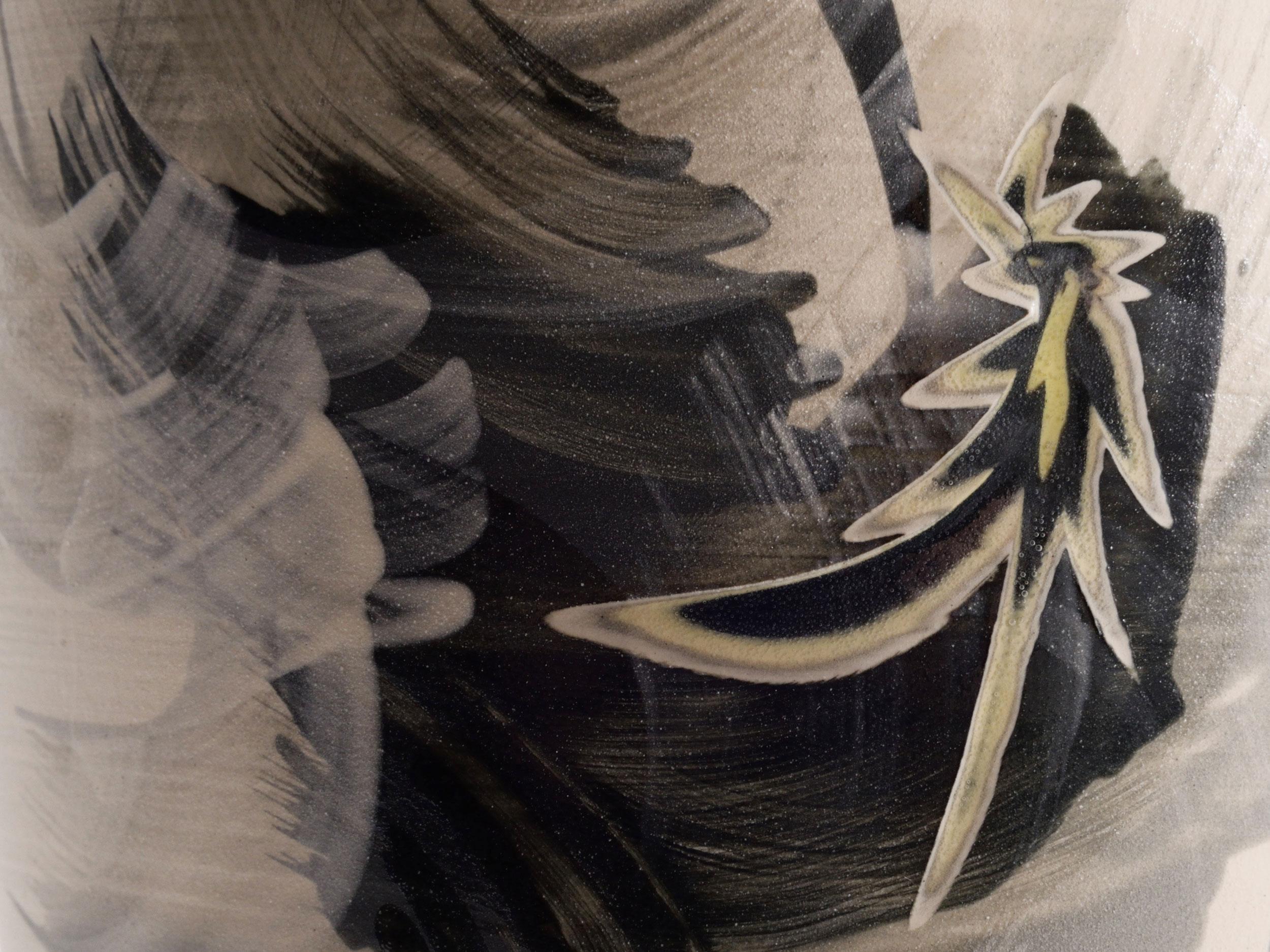 Orienatl Style Gestural Star Vase by Rowena Gilbert