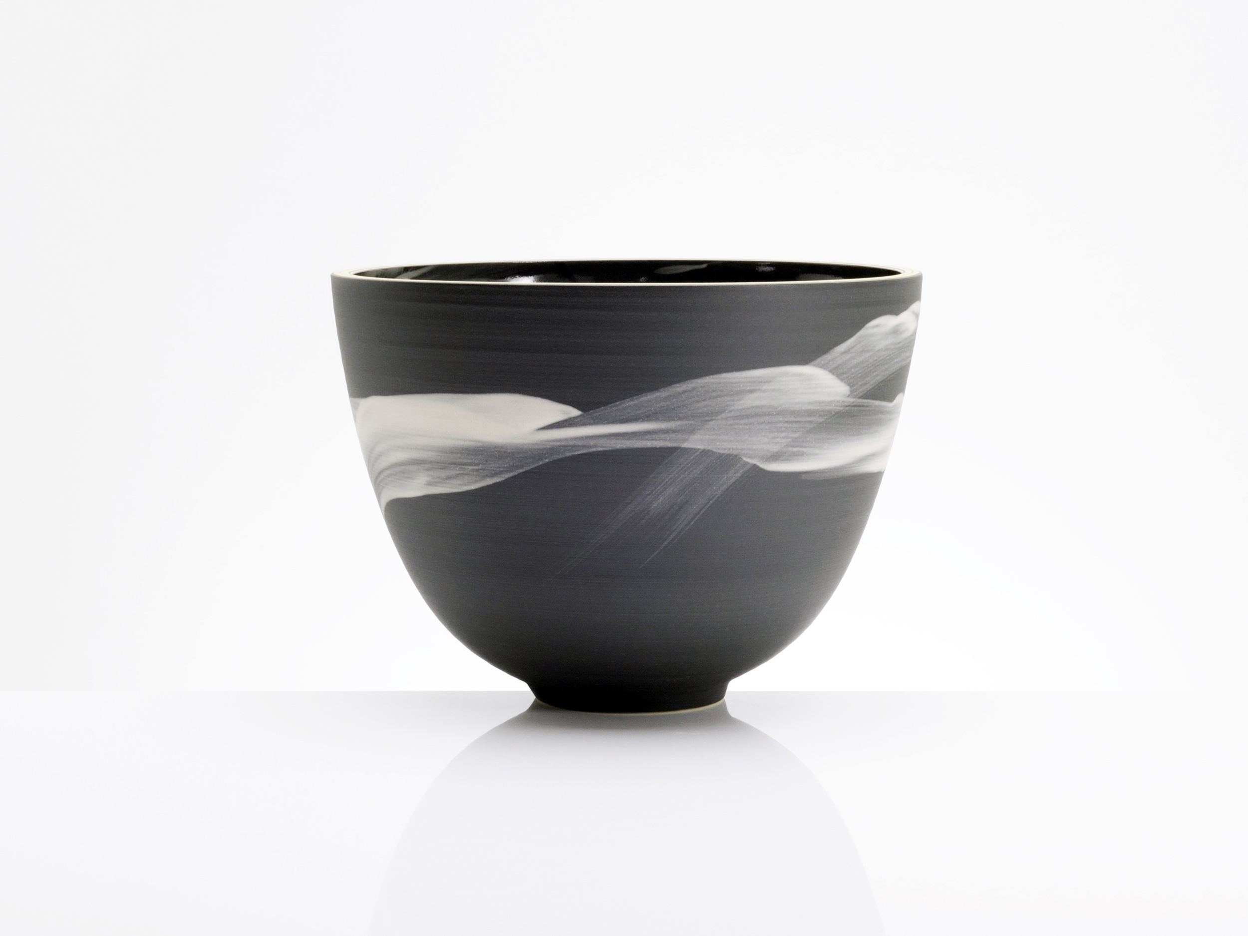 Oriental Brush Stroke Bowl by Rowena Gilbert