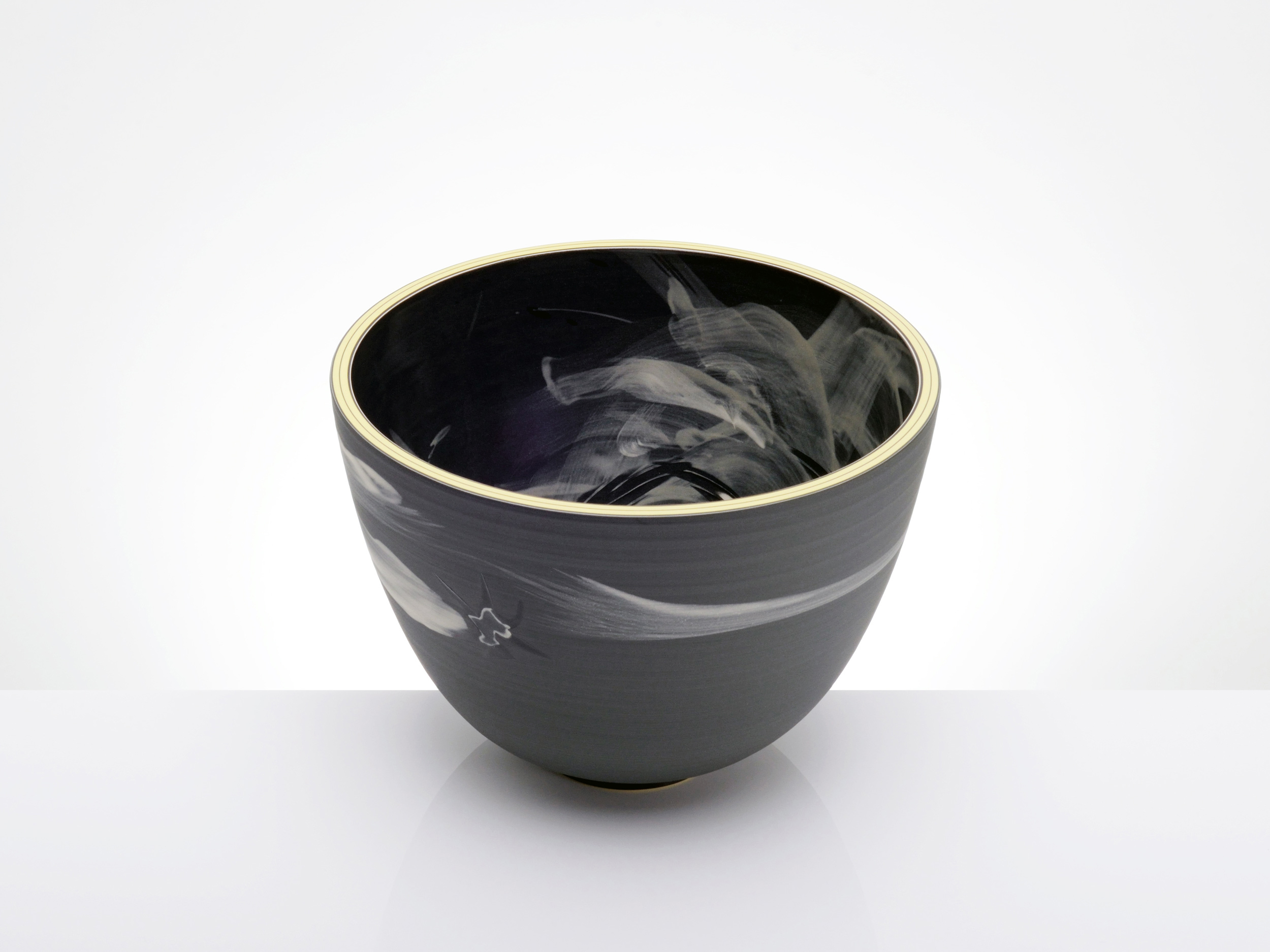 Shuriken Black Star Asteroid Bowl by Rowena Gilbert