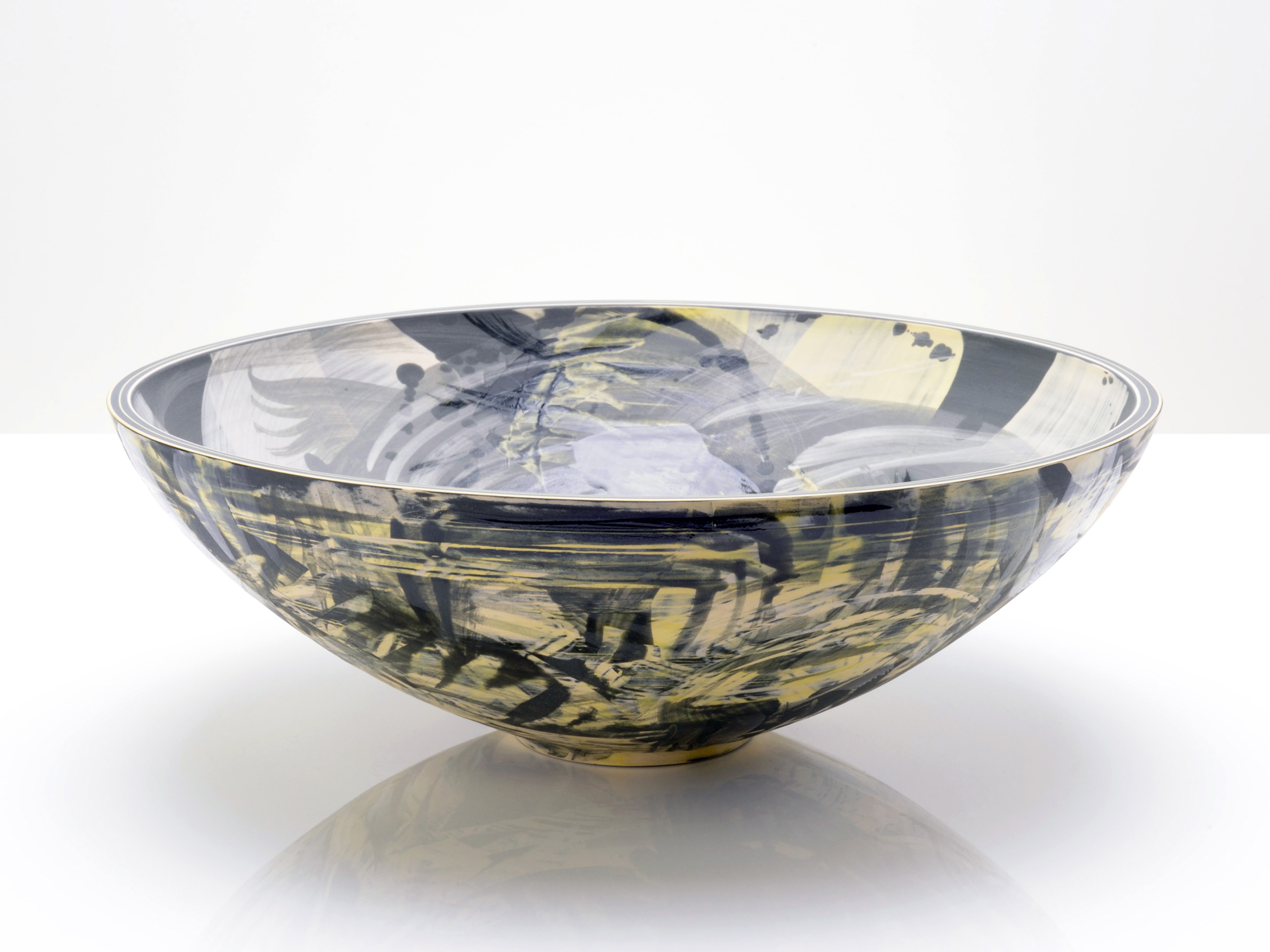 Abstract Oriental Ceramic Bowl by Rowena Gilbert