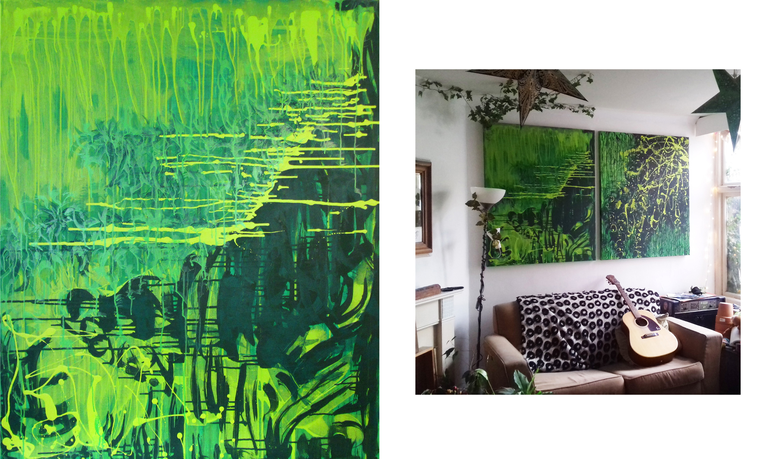 """Psychedelic Jungle Dreams"" Acrylic on Canvas 100 x 120 cm SOLD"