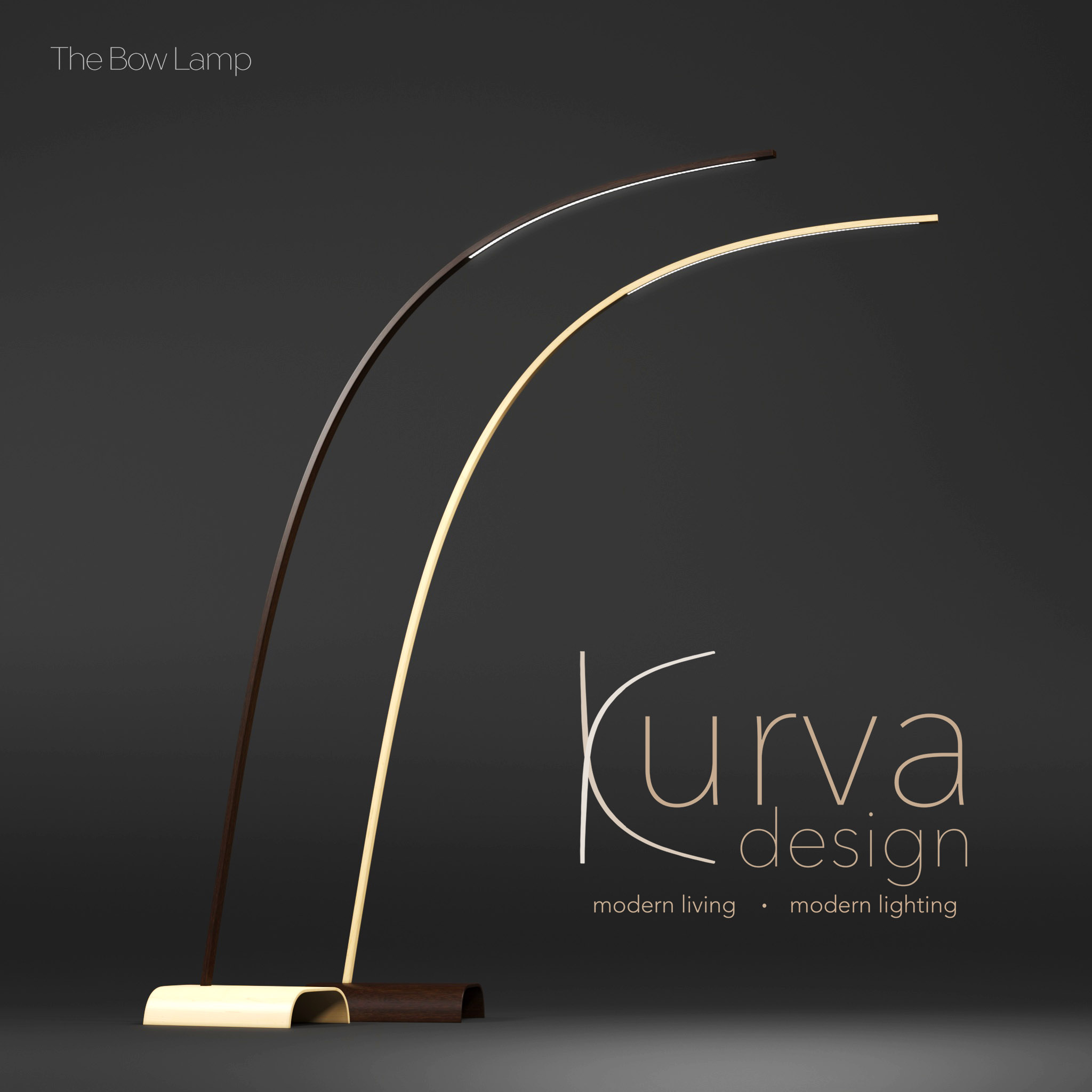 Bow Lamp- by Mike Randall from Kurva Design