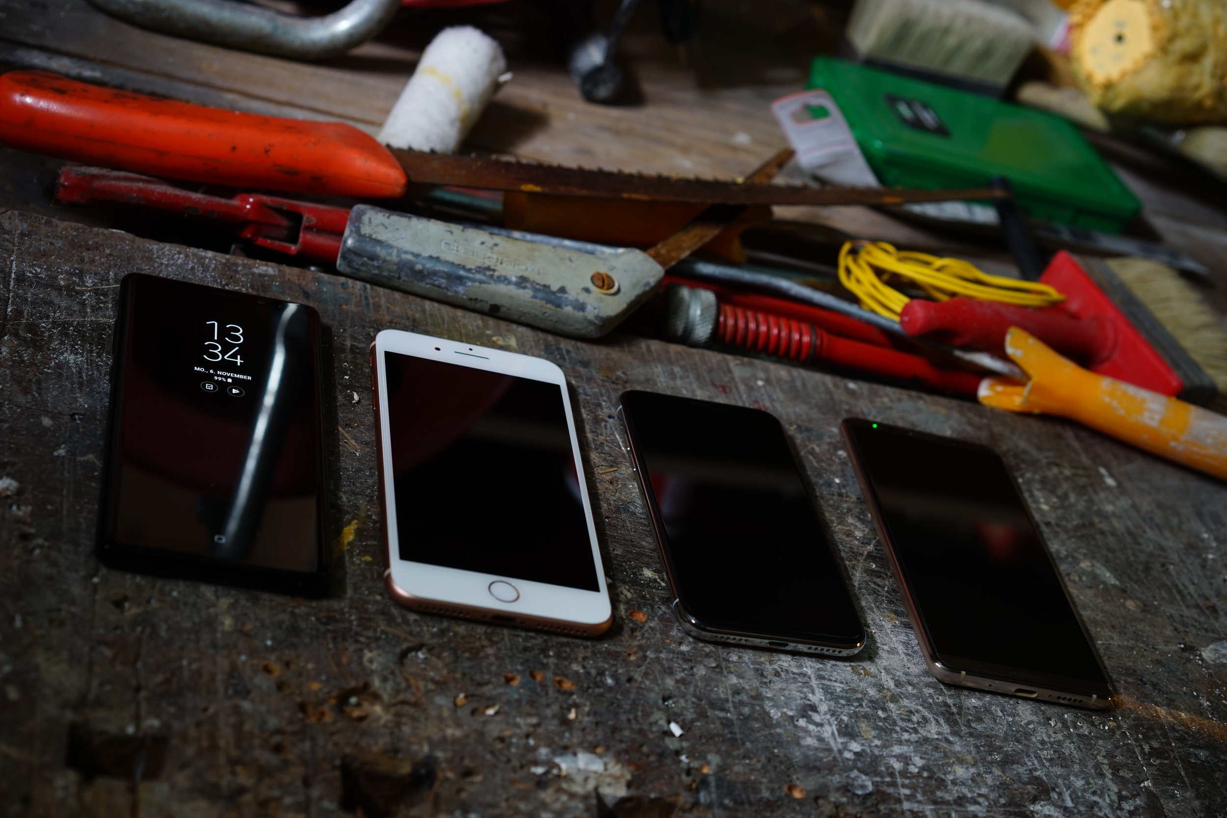 Note 8 vs iPhone 8 Plus vs iPhone x vs Mate 10
