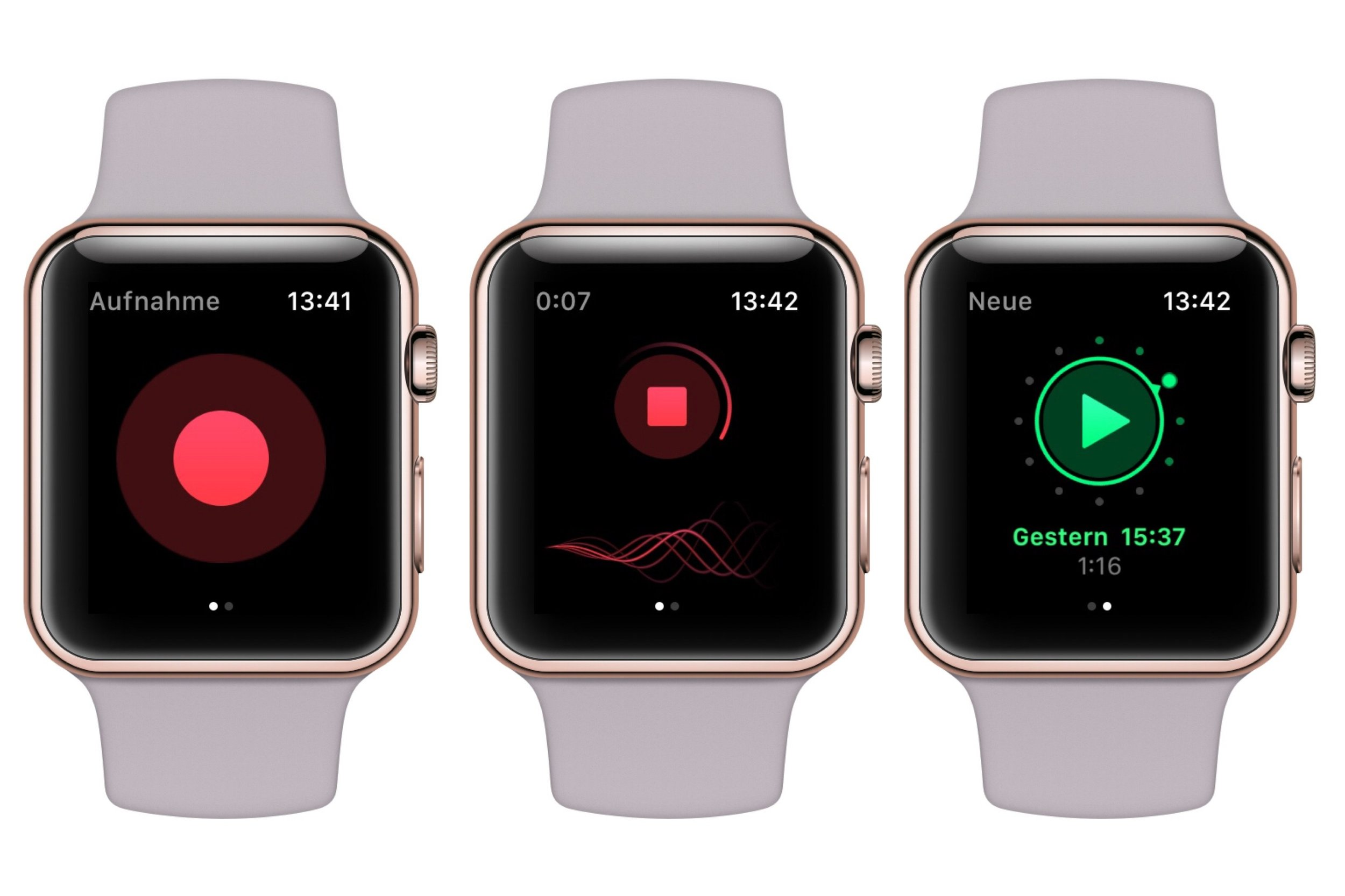 just press record on apple watch
