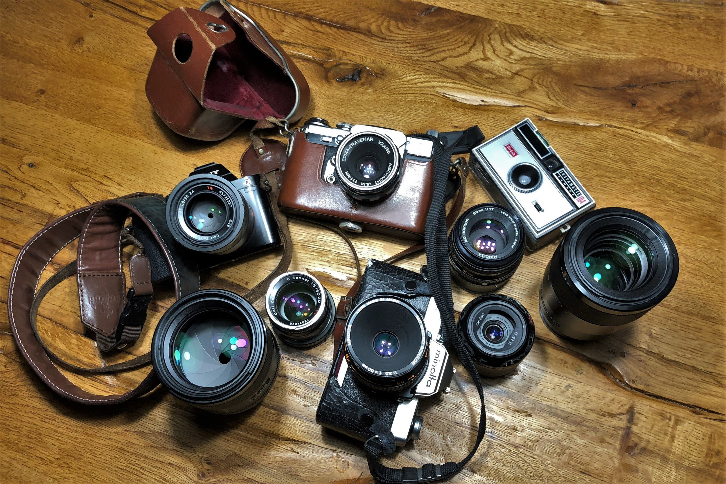 my camera collection shot with halid on the iphone