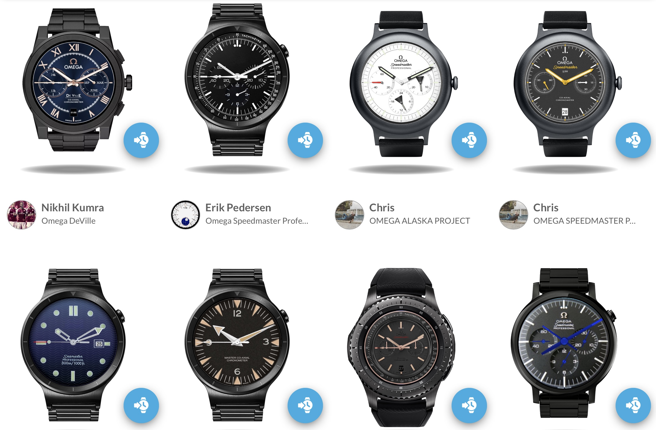 omega watch faces
