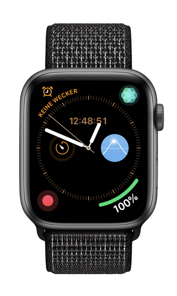 My new watch face for the night. I used the modular one on the Series 3. But now I moved all the things I need onto this one and added some useful extras. Like a dictaphone in case I have an idea at night and don't want to go get my phone.