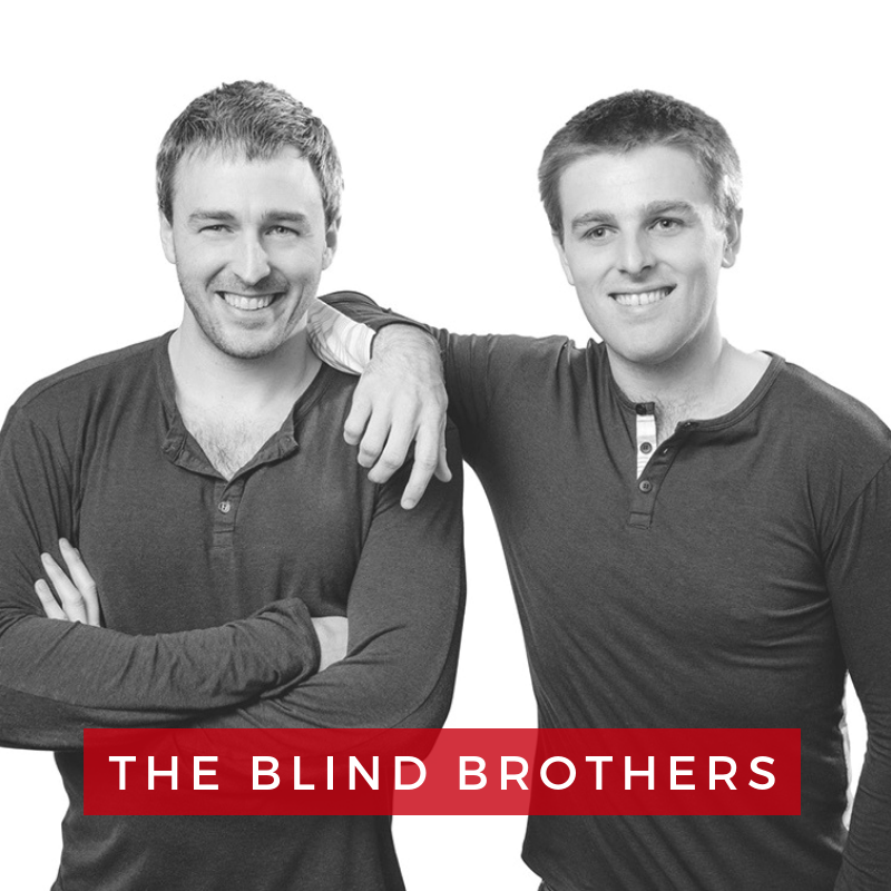Bryan and Bradford Manning, Founders of The Blind Brothers - Brothers, Bradford and Bryan Manning, are brothers on a mission to cure blindness. At the age of 7, they were both diagnosed with an eye disease that destroys central vision over time. To fight back, they left their former careers in finance to propel a small charitable clothing label, Two Blind Brothers, into a beloved brand endorsed by social impact pioneers including Ellen DeGeneres, Ashton Kutcher, and Richard Branson.Their leadership on topics such as