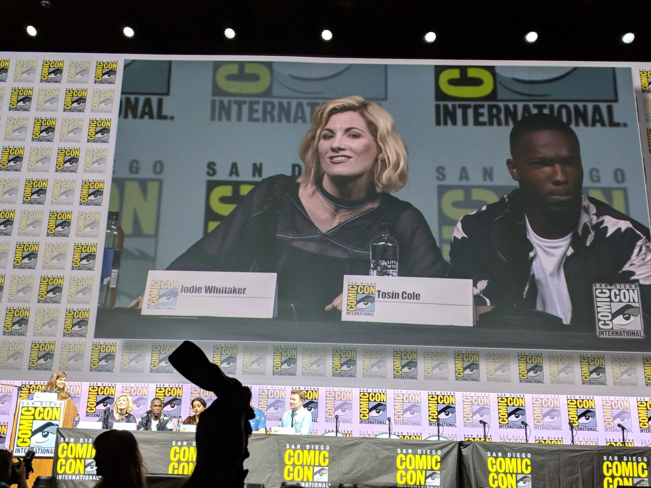 JODIE WHITTAKER and TOSIN COLE  Dr. Who  panel.