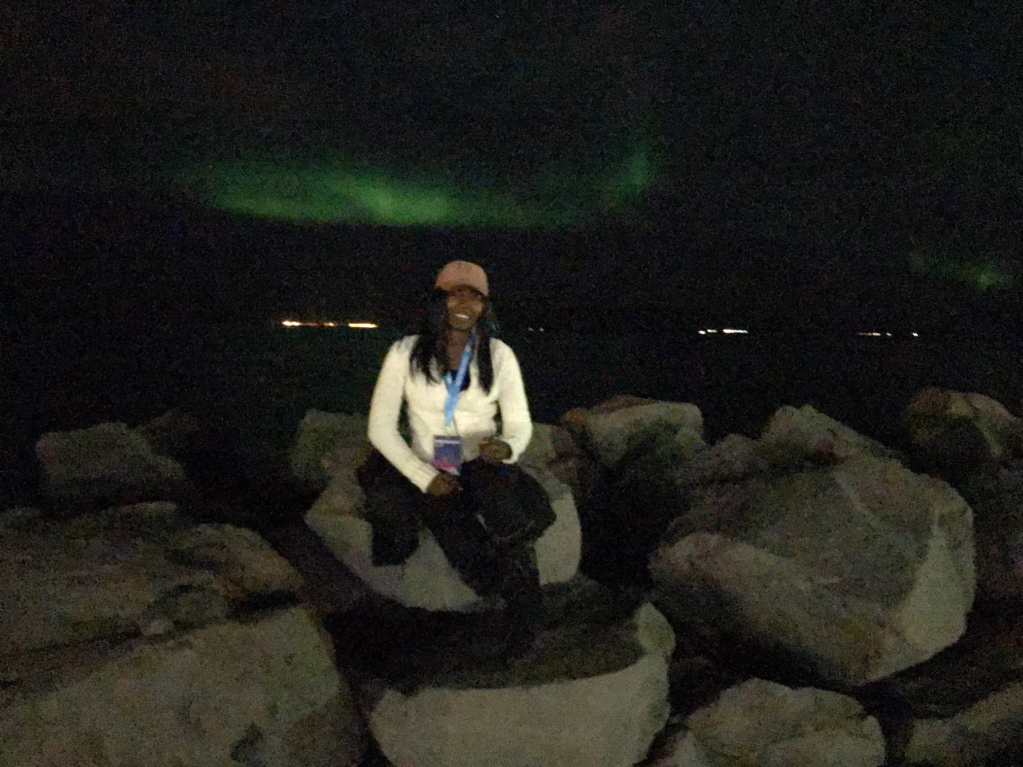 The Northern Lights welcoming us.