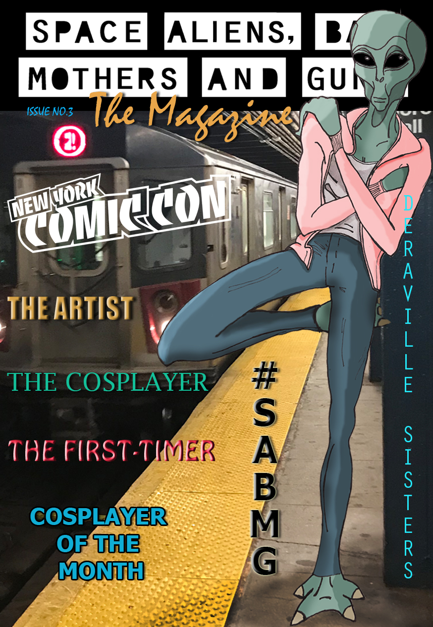 ISSUE NO.3 - Check out the deets on this year's New York Comic Con, Cosplayer of the Month, news about our SABMG book series and so much more.