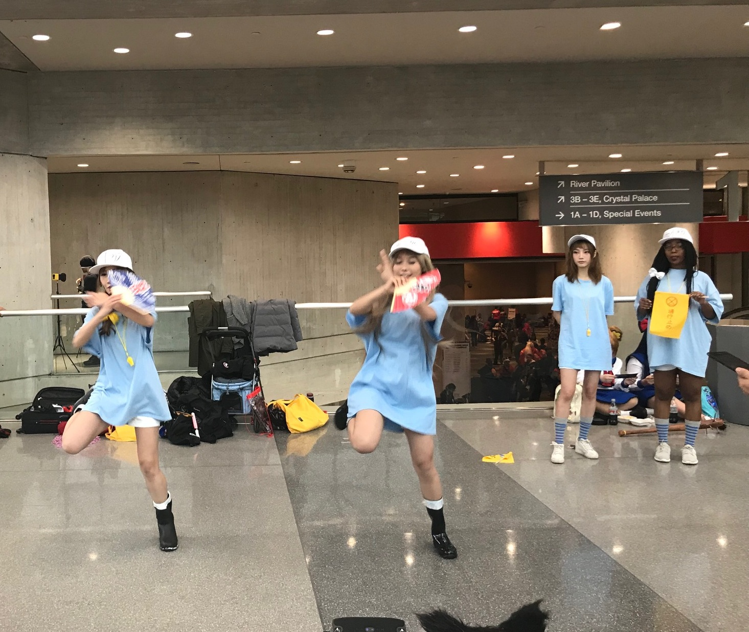 Maid 4 U Cafe Dancers performance.