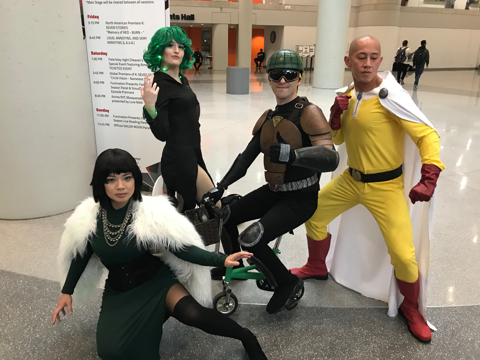 One-Punch Man - IG: @ivi_cosplay,   @roro0cosplay, @saitama, @mumen, @tatsumaki