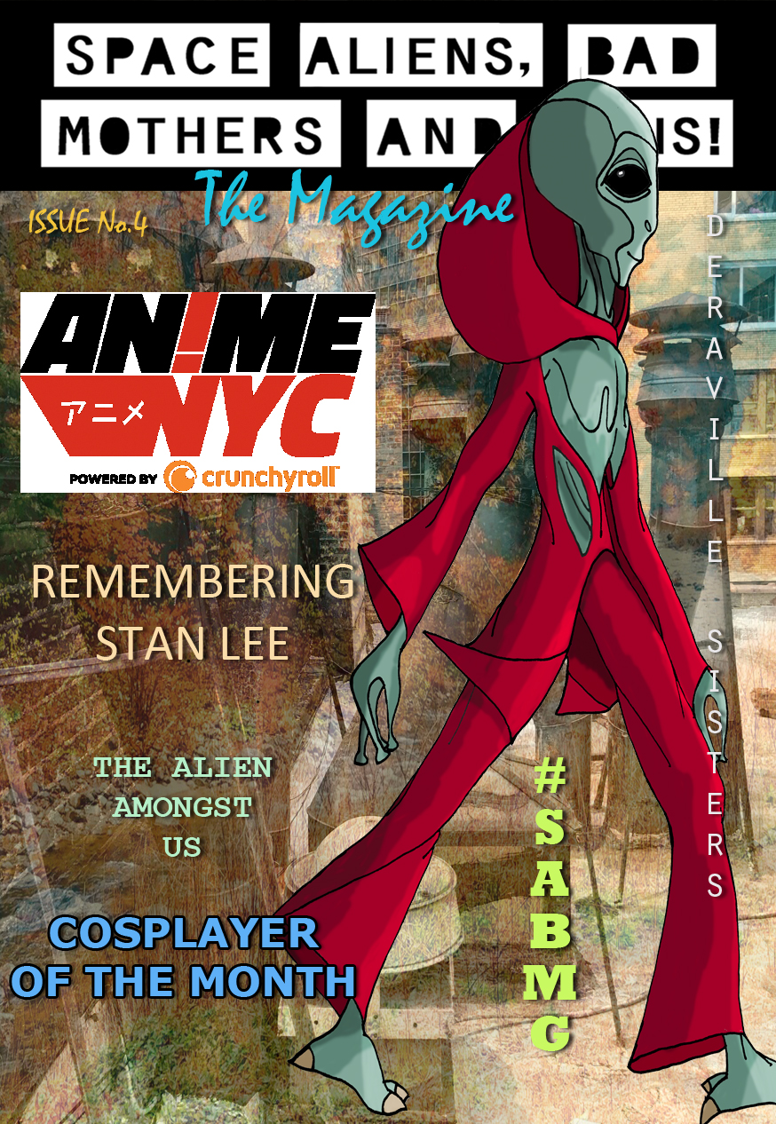 ISSUE #4 is available! - We're always looking for a few good contributors! If you have a short story that you would like for us to publish in our online magazine, are visiting an upcoming convention and want to let us know how much you enjoyed (or if you were disappointed), have us post an illustration that you've personally drawn or if you just would like to send us a comment to post DM us on Instagram @OfficialSABMG or @space_aliens_bad_mothers_guns.