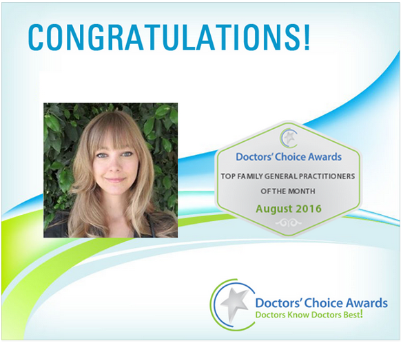 Doctors Choice Award Recipient - Nicole Cain, ND MA, winner of the Doctor's Choice Awards for Scottsdale, Arizona in August 2016