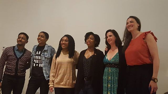 The post screening panelists at The Haven premiere. Searching for Isabelle and some excellent ads for #Prep (#HIV prevention drug) were also screened. Proud to be part of some socially conscious programming at @weareotv. . . . #thehavenweb #weareotv @elizabethlaidlaw @filthyyetigirl #ashleybattle @rhymeswithbetter @drajchristian #womeninfilmchicago #womeninfilm #artthatmatters