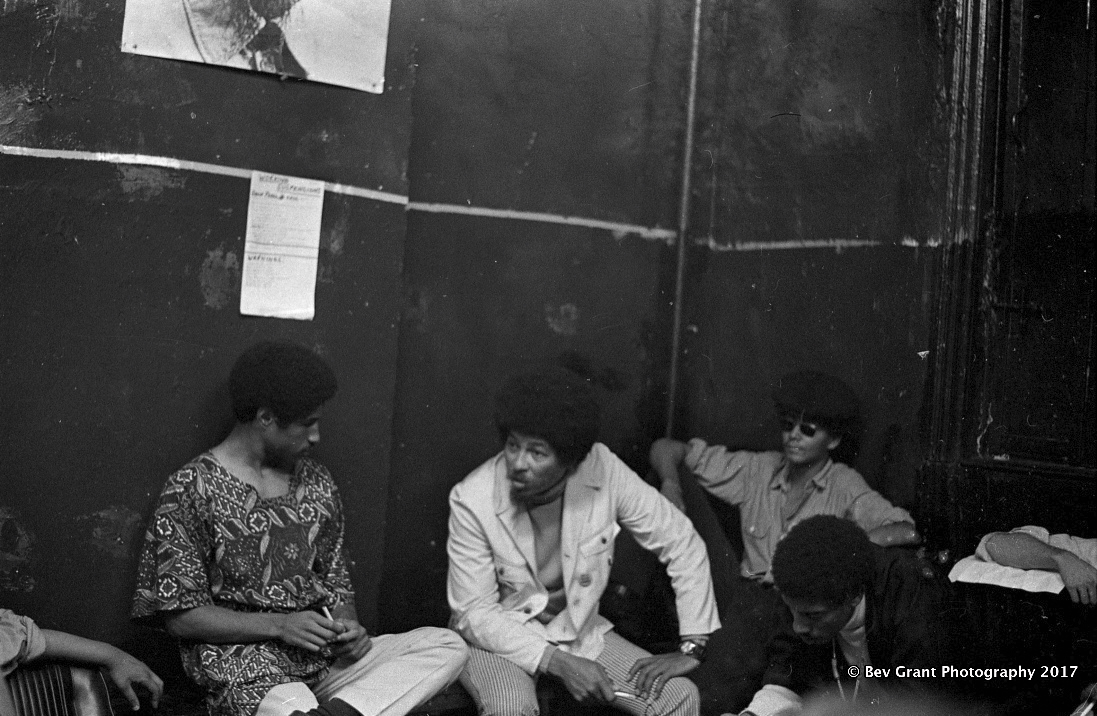 A meeting with the Black Panther Party and the Young Patriots to explore the formation of a Rainbow Coalition