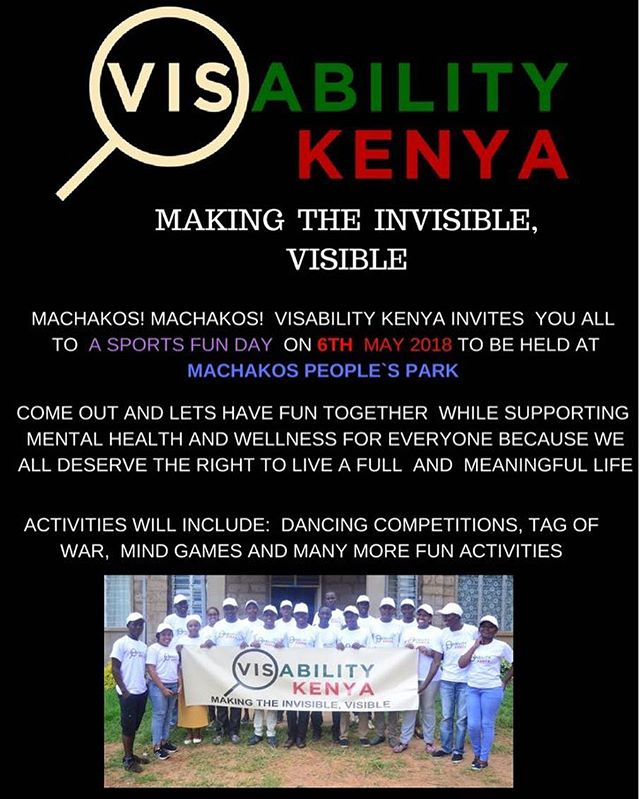 We are really looking forward to our upcoming community event that our volunteers are hosting in Machakos People's Park this coming Sunday May 6th from 12:00-4:00 pm! Everyone is welcome, so come out and bring your family and friends! Together we can raise awareness about mental health and help create a community that celebrates diversity and inclusion! #makingtheinvisiblevisible #mentalhealthforall #community #equalrights #wellness #globalhealth #socialinnovation
