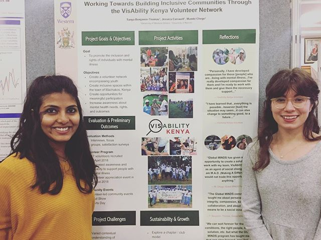 In December 2018, Jessica and Tanya got to share the activities of @visability.kenya in 2018 with people at Western University, Canada! . . We have come a long way, and indeed are excited for what is to come in 2019! 😊 . . . #visabilitykenya #mentalheathawareness #socialchange #westernuniversity #volunteernetwork #GlobalMINDS #africa #socialactors #socialinnivators #changemakers #communitydevelopment #globalhealth