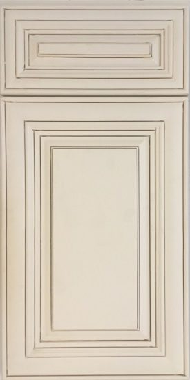 "Monroe Maple Glaze - ·         Color: Bisque Cream Glaze·         Sculpted inner door profile enhance the attributes of glaze finish·         Raise panel-in-frame·         1/2"" plywood side board and back panel·         3/4"" plywood shelf·         3/4"" thick solid door frame·         Full Extension Ball Bearing Self Closing Slide Drawer & Self Closing Door Hinges ·         Four Way Adjustable Hinges ·         Dovetail Drawer Connection ·         Full overlay door style (1-3/8"" overlay / 1/8"