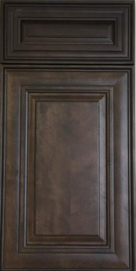 "Hamilton Walnut - ·         Color: Chocolate ·         Sculpted inner door profile enhance the attributes of glaze finish·         Raise panel-in-frame·         1/2"" plywood side board and back panel·         3/4"" plywood shelf·         3/4"" thick solid door frame·         Full Extension Ball Bearing Self Closing Slide Drawer & Self Closing Door Hinges ·         Four Way Adjustable Hinges ·         Dovetail Drawer Connection ·         Full overlay door style (1-3/8"" overlay / 1/8"
