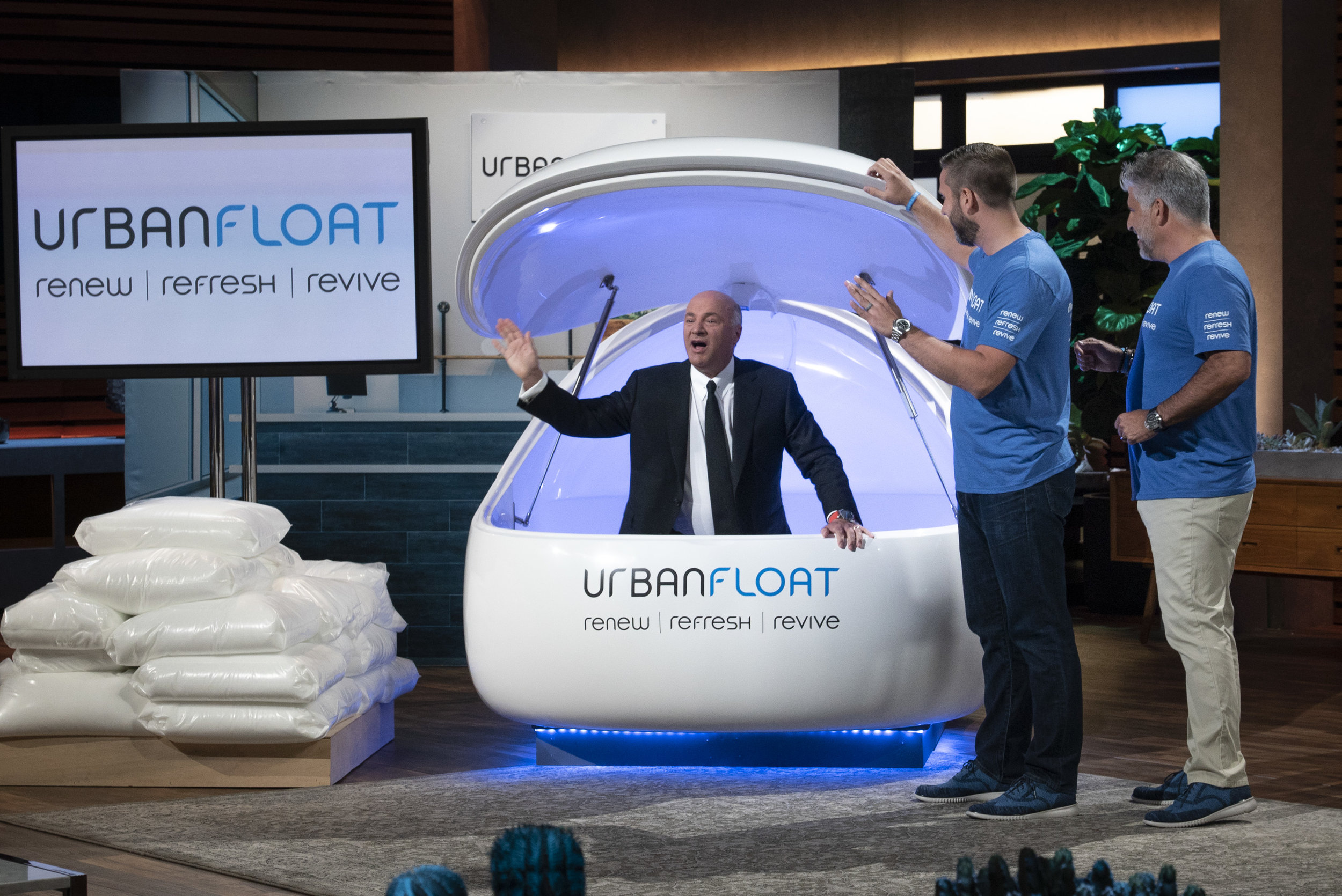 Urban Float on Shark Tank, Joe Beaudry, Scott Swerland, Kevin O'Leary