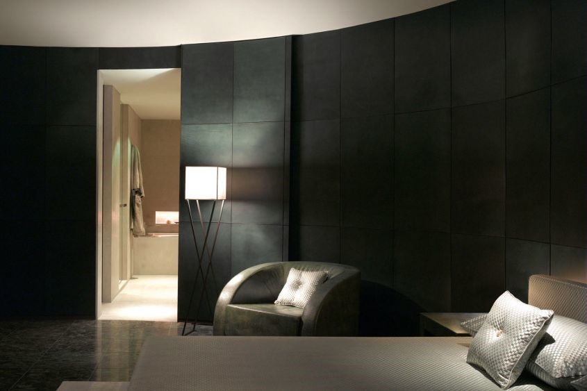 The suites are completely outfitted in Armani Casa furnishings with earthly tones and textured fabrics the designer is known for.