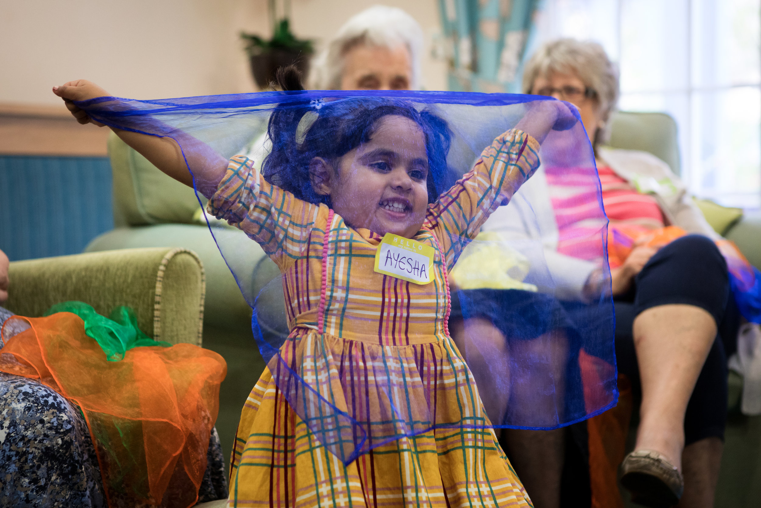 Give a set of coloured scarves - £12We will use these every week at Songs & Smiles to dance, wave and play Peekaboo with! It's one of the best-loved parts of the session and encourages interaction between all ages.