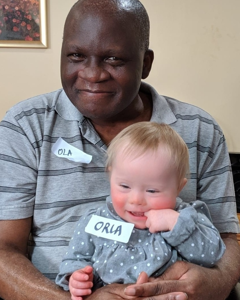 Ola and Orla at Barchester Westgate House Care Home, Forest Gate, London