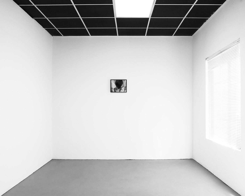 Installation View:  P,  11 x 14, Gelatin silver print, 2019