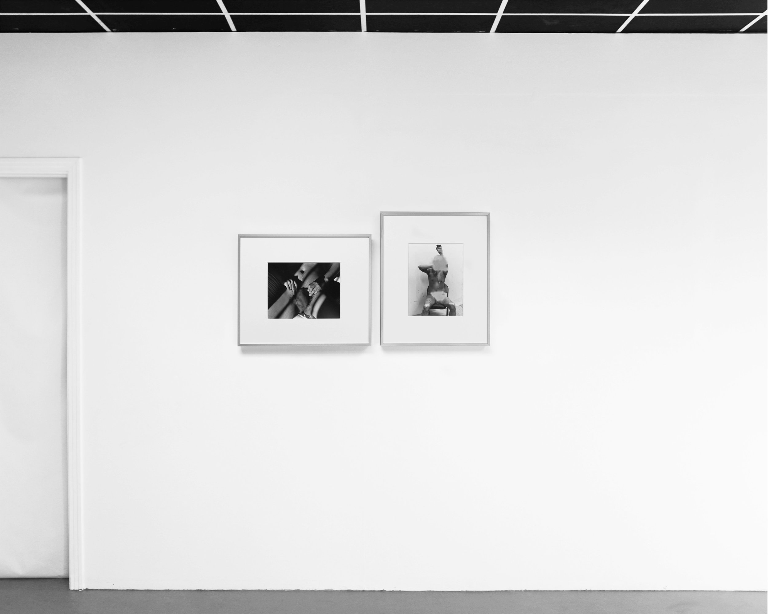 Installation View:  Revealed (& Redacted) + Untitled (Spray Censor),  11 x 14 Gelatin silver prints in 20 x 24 frames, 2019