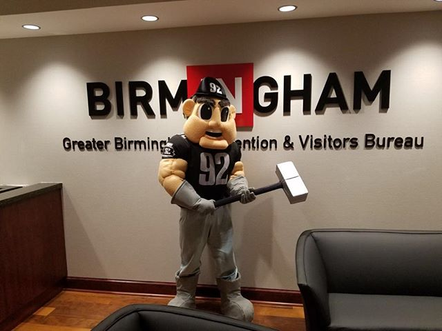 "We were jacked up to design and create ""Grid"" for the AAF's Birmingham Iron!  Great folks to work with!"