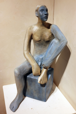 Mavis McClure - seated figure iv