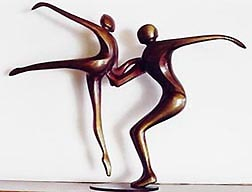 Descending Dancers - Robert Holmes sculpture