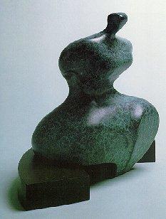 Seated Figure IX - Robert Holmes sculpture