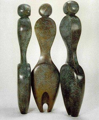 Three Women - Robert Holmes sculpture